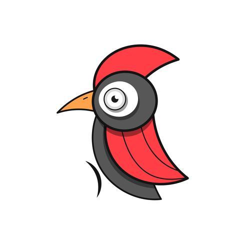 Pájaro carpintero. Pájaro Animal Abstracto Vector de plantilla Zoo Vida silvestre Negocio Icono Naturaleza Empresa