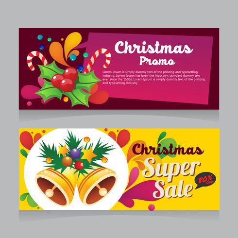 färgglada julförsäljningsbanner