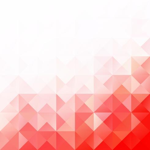 Rode raster mozaïek achtergrond, creatief ontwerpsjablonen