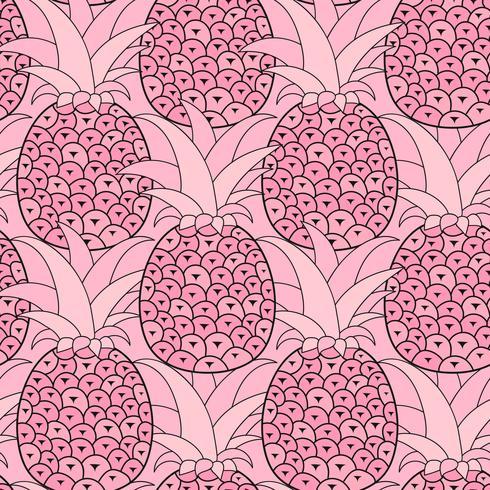 Piñas de patrones sin fisuras. Fondo tropical Ilustración de vector. Listo para su diseño, tarjeta de felicitación