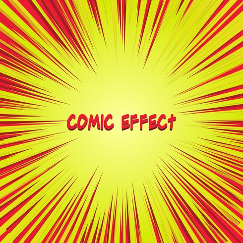 red and yellow comic zoom effect