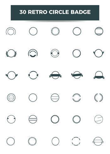 Retro Kreis Abzeichen Vorlage. Vektor und Illustration