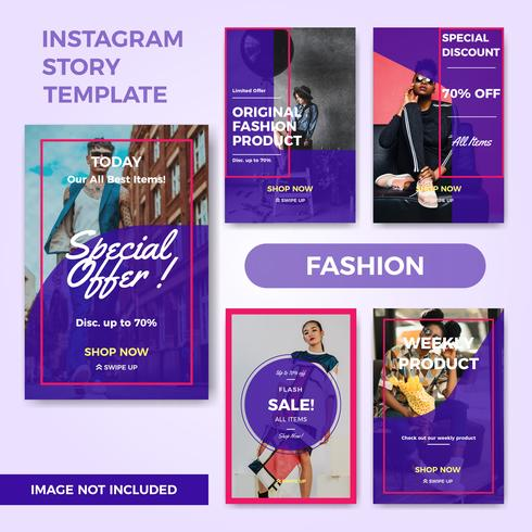 Plantilla de historia de moda de Instagram