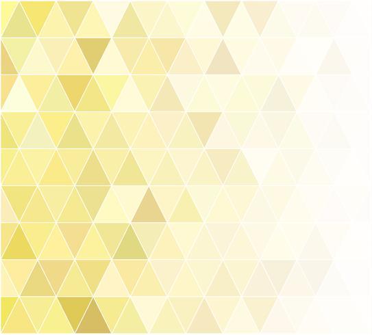Fondo mosaico de rejilla amarilla, plantillas de diseño creativo vector