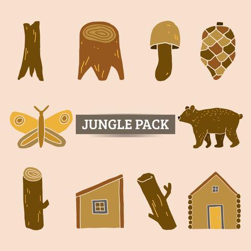 giungla element pack vettore e illustrazione