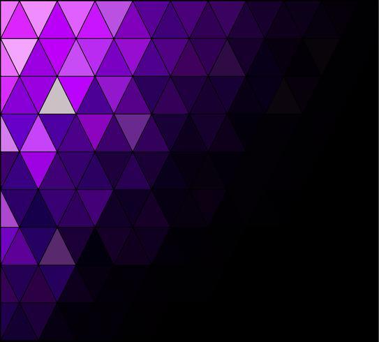 Fondo de mosaico de cuadrícula púrpura, plantillas de diseño creativo vector