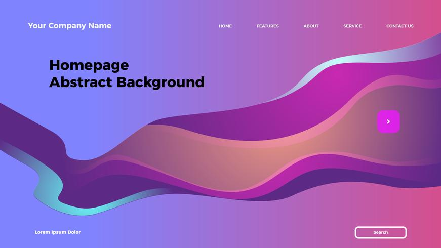 homepage abstract background. Gradient landing page template