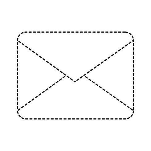 dotted shape letter card message closed with document information vector