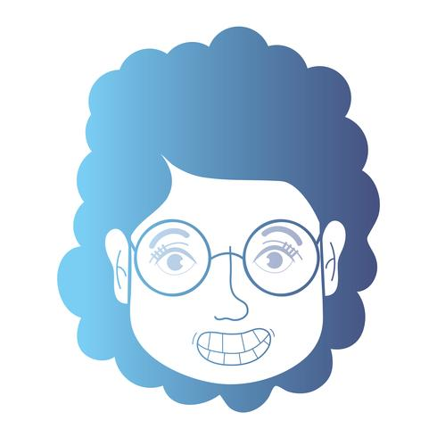 linje avatar kvinna huvudet med frisyr