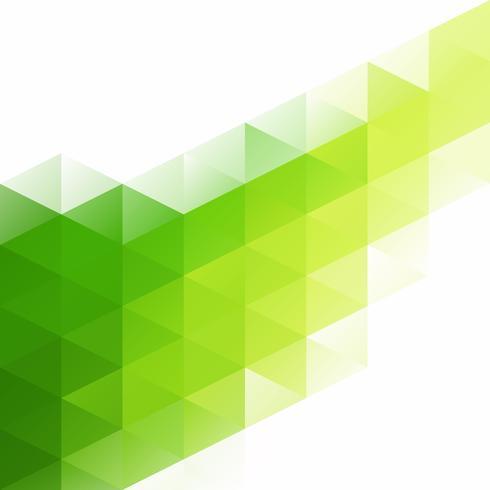 Fondo mosaico de rejilla verde, plantillas de diseño creativo vector