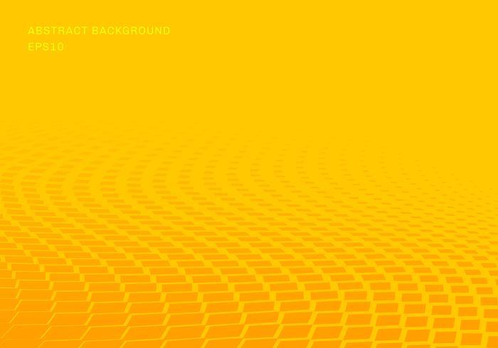 Stile di pop art di semitono del fondo del quadrato astratto di giallo di pendenza dei modelli di onda. È possibile utilizzare per la presentazione di elementi di design, banner web, brochure, poster, volantini, volantini, ecc.