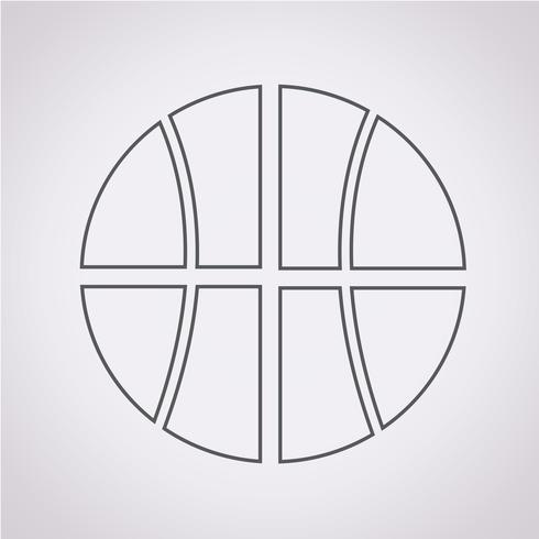 Segno simbolo icona di basket