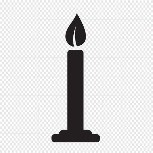 symbole de symbole icône bougie