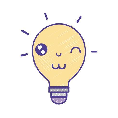idea divertida linda del bulbo de kawaii