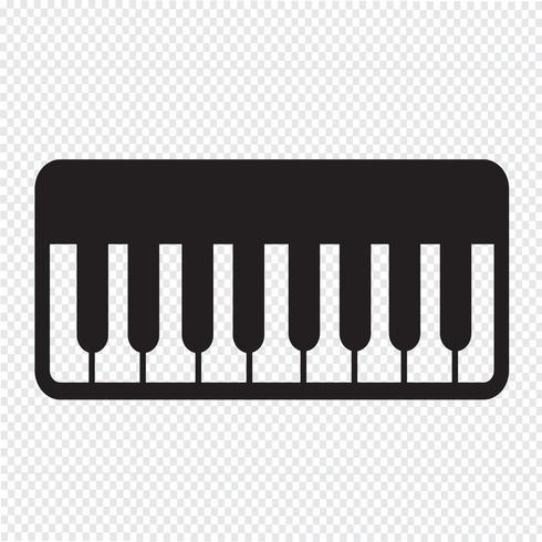 Signe symbole icône piano