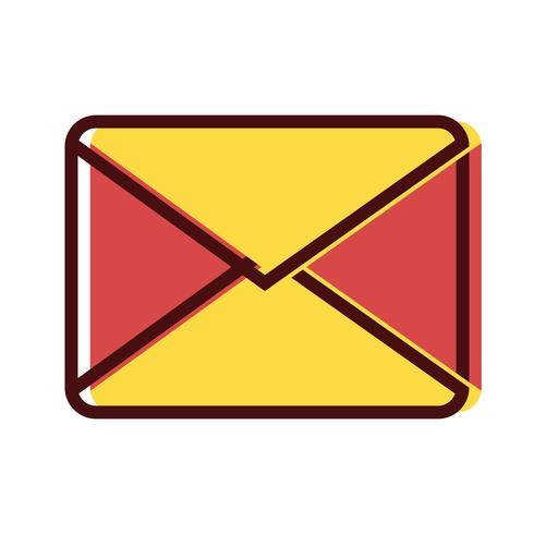 message de carte de lettre fermé avec information de document