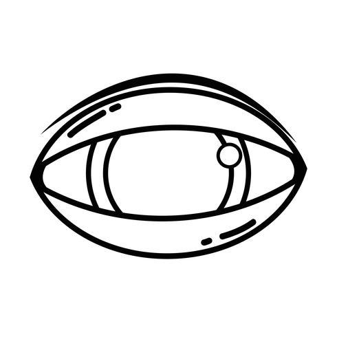 line human eye to optical vision icon vector