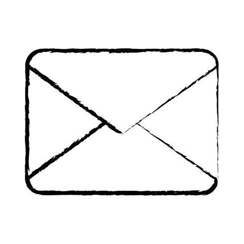 figura carta cartão mensagem fechada com informação do documento