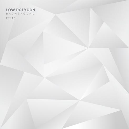 Abstract low polygon white background. Geometric triangles pattern backdrop.