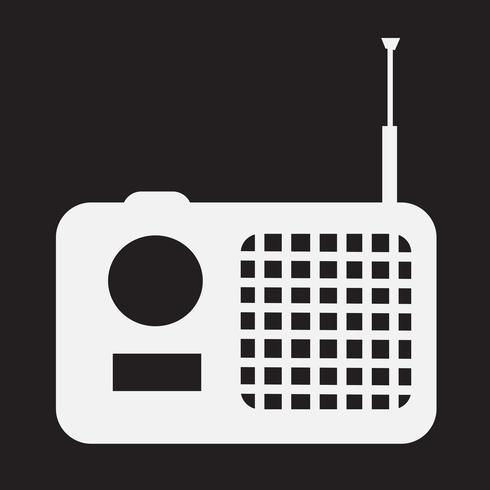 symbole de radio icône symbole