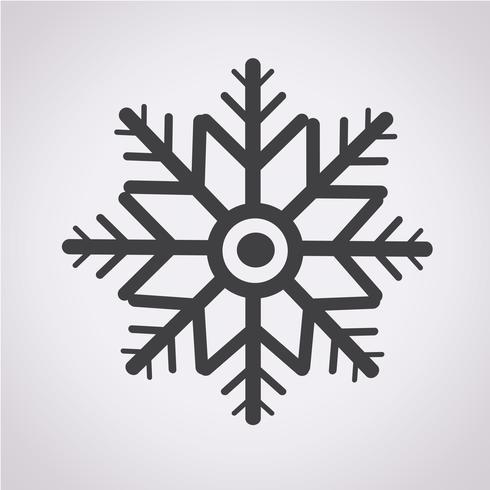 snowflake icon  symbol sign vector