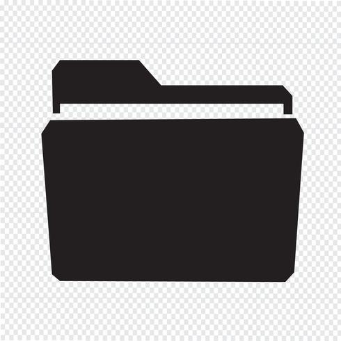 Mapp icon symbol tecken