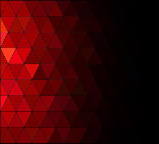 Fond de mosaïque grille carré rouge, modèles de conception créative