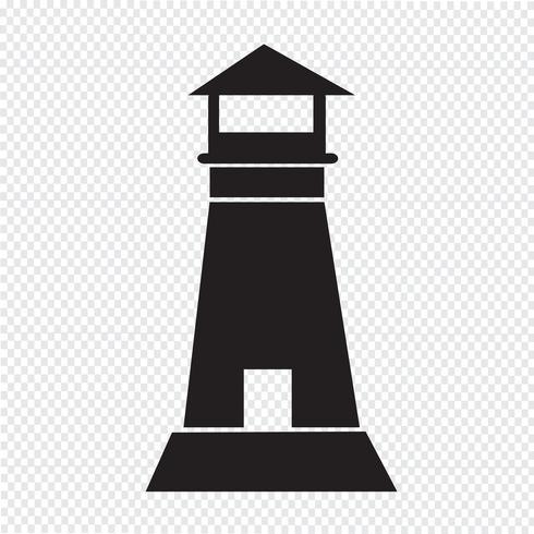 lighthouse icon  symbol sign