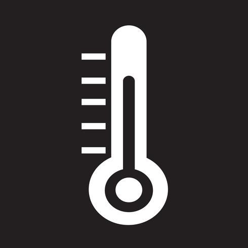 Termometer ikon symbol tecken