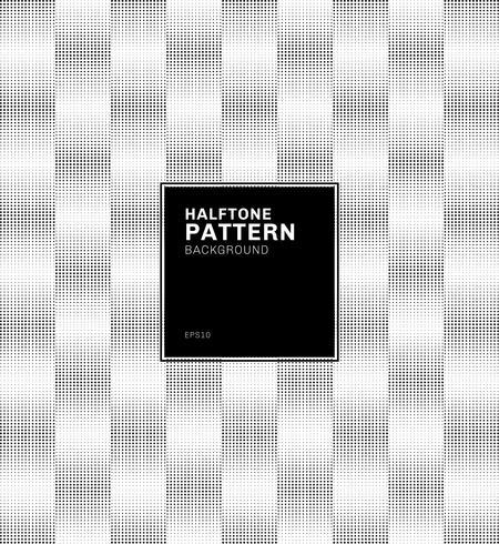Fond Abstrait géométrique motif carré noir demi-teinte. vecteur