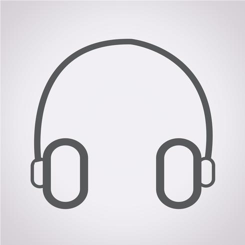 hoofdtelefoon pictogram symbool teken