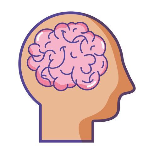 Silhouette Mann mit Anatomie Gehirn Design