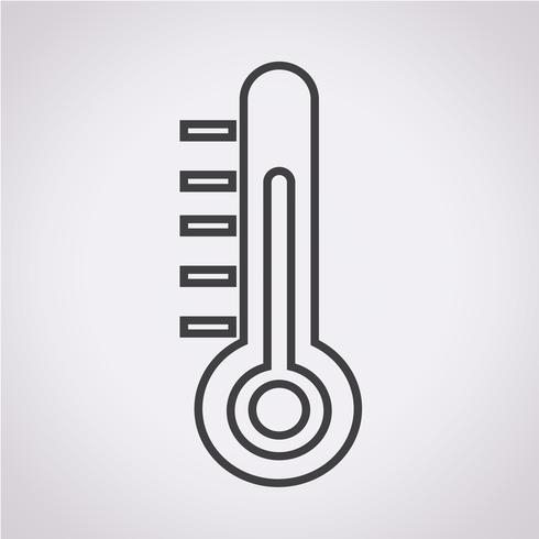 Sinal de símbolo de ícone de termômetro