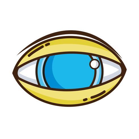 Ojo humano al icono de la visión óptica.