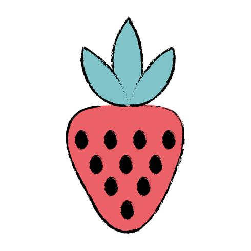 doodle delicious strawberry organic fruit food