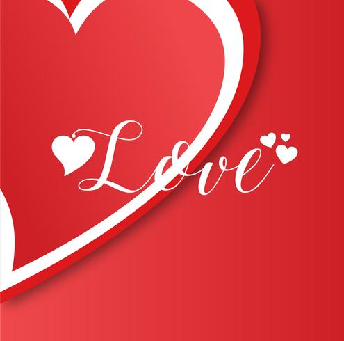 Creative minimal vector png love background