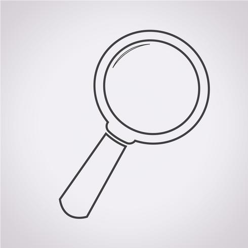 Zoek pictogram symbool teken