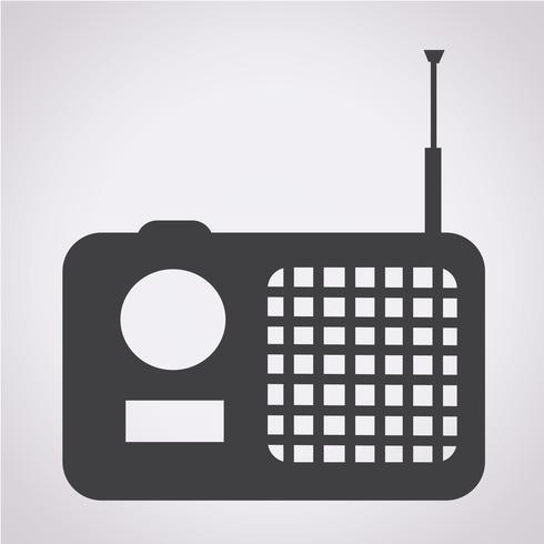 radio ikon symbol tecken vektor
