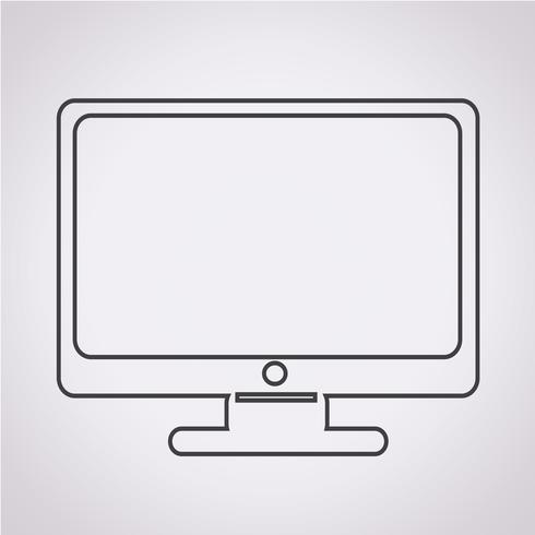 icono de monitor símbolo signo