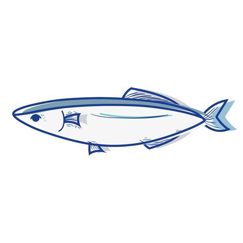 Deliciosos pescados y mariscos con nutrición natural. vector