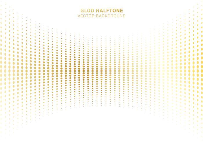 Semitono astratto del modello dei punti dell'oro della curva sugli elementi di lusso di stile del fondo bianco.