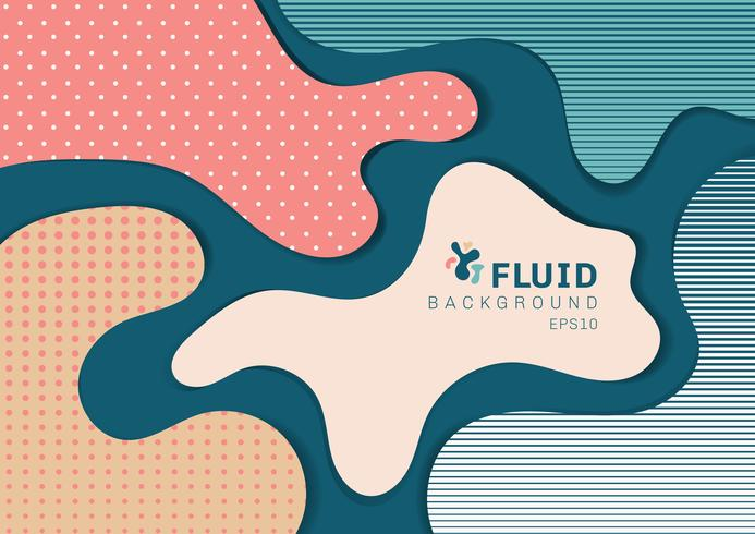 Abstract 3D background dynamic style banner web design from fluid shapes with pattern modern concept. You can use for poster, web, landing page, cover, ad, greeting card, promotion, brochure, etc. vector