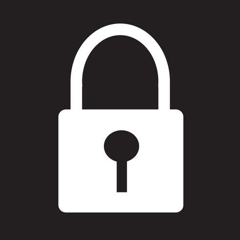 Lock pictogram symbool teken