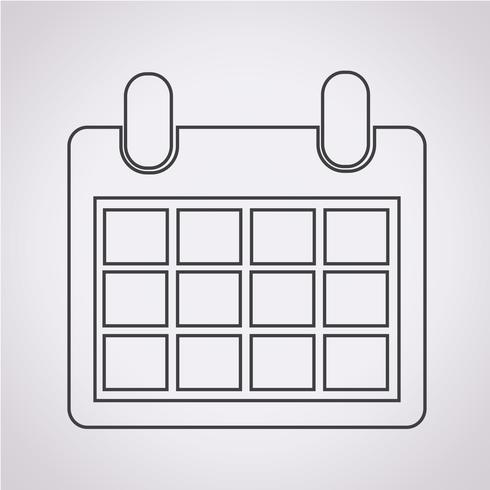 Kalender pictogram symbool teken