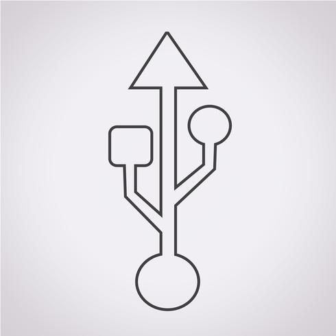 usb icon  symbol sign