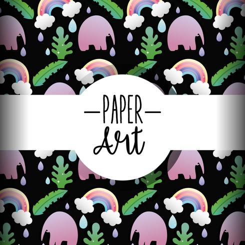 Sfondo di arte di carta