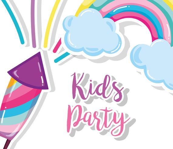 Desenho de festa de crianças