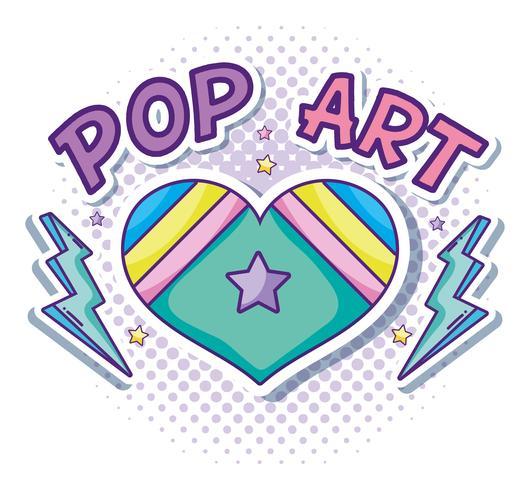 Hart en liefde pop-art