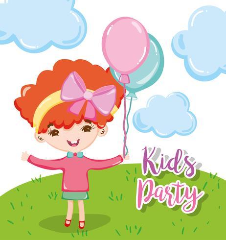 Dessins animés de fête d'enfants