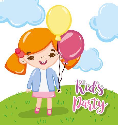 Dibujos animados para fiestas infantiles vector